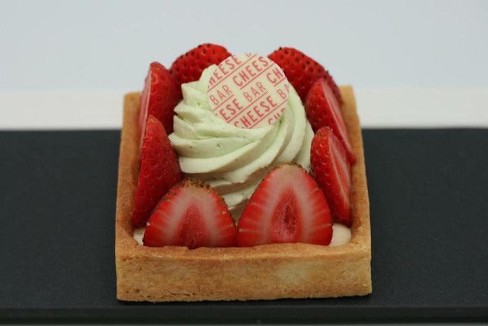 Tartelette aux fraises à la crème de fromage.