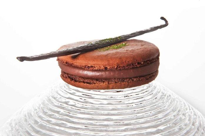Macaron chocolat à la crème de Stilton
