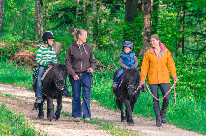 Das Ponyreiten eignet sich für jedes Kind und es gibt keine Voraussetzungen. Die Ponys werden von Erwachsenen geführt und die Kinder können das Ponyreiten in vollen Zügen geniessen.