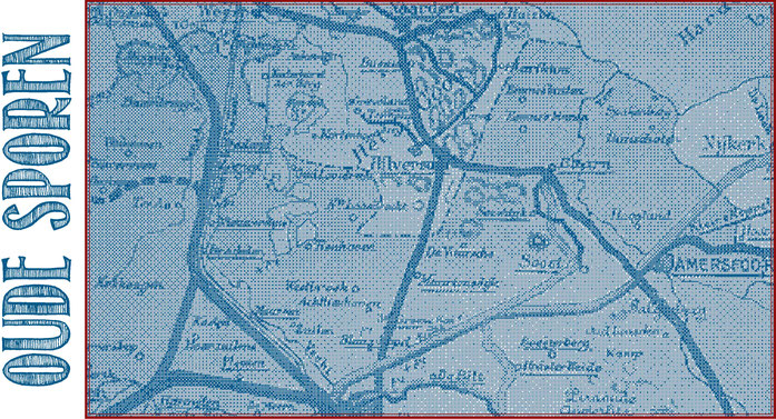 Kaart met spoorwegen Utrecht