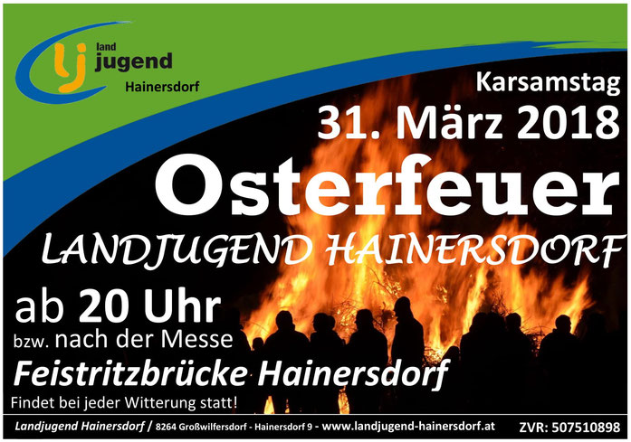 Osterfeuer Hainersdorf Landjugend
