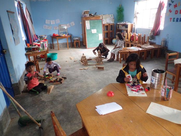 Photo du « Taller » (maison) des enfants durant un temps libre - (c) Photos Gaëlle Fabre et Florian Euzen