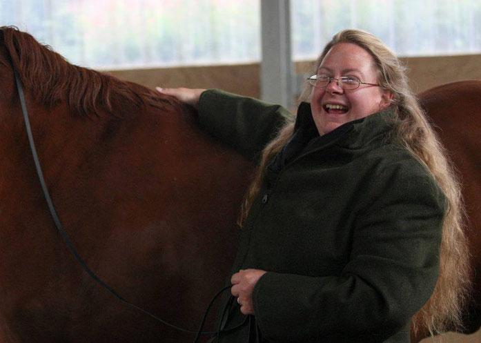 Pferde machen glücklich!  Bei der Arbeit fotografiert von Birgit Schlag