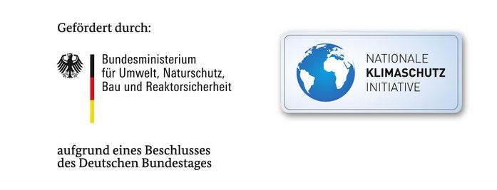 Gefördert durch das Bundesministerium für Umwelt, Naturschutz, Bau und Reaktorsicherheit aufgrund eiens Beschlusses des Deutschen Bundestages aus der Nationalen Klimaschutzinitiative