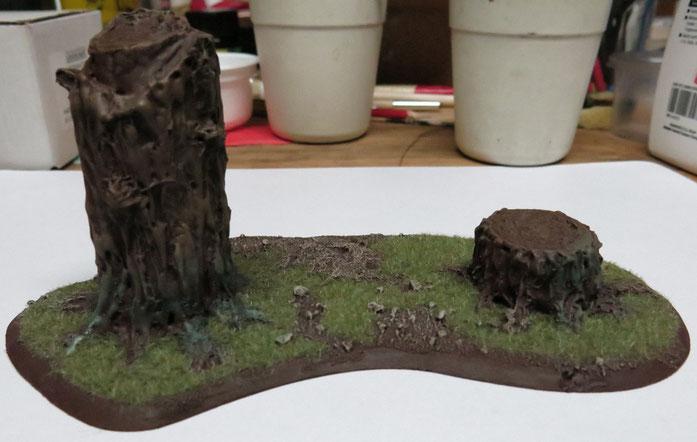 Baumset Base 03: Ein Stumpf und ein kurzer Stamm