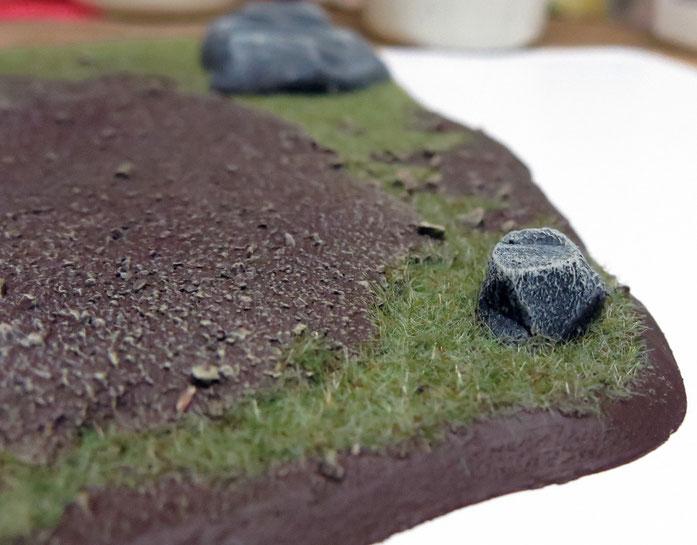 Felsen aus Styrodur
