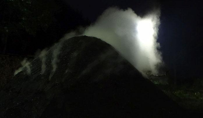 Nachtwache am Meiler