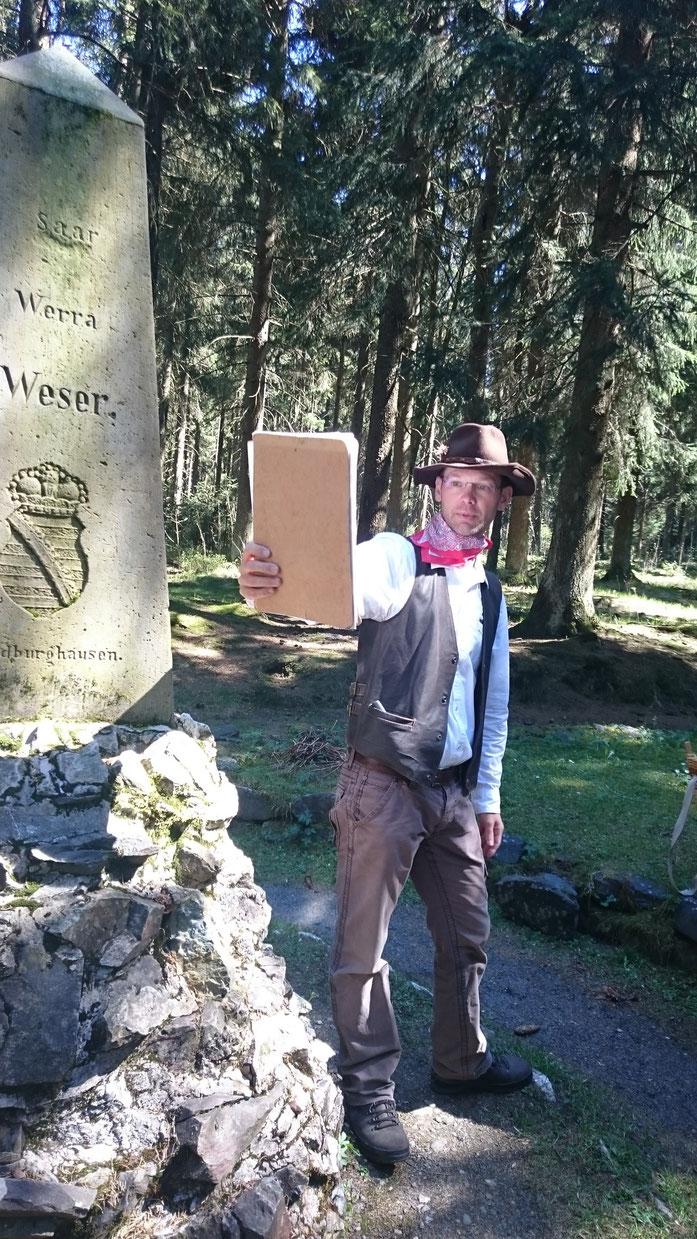 Mit dem Naturparkführer unterwegs. Bildvergleich: Früher und heute
