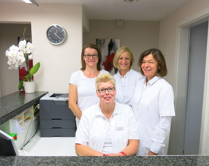 Von links nach rechts: Frau Hajnalka Beisele, Frau Monika Elbert, Frau Dr. med. Angelika Hertelendy-Eikmanns, Frau Ute Pohl