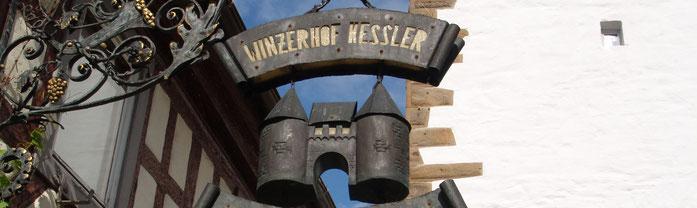 Schild des Winzerhof Kessler