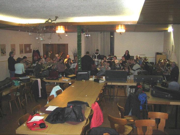 """09.02.2006 - Letzte Probe im langjährigen Vereinslokal """"Zum Bahnhof"""""""