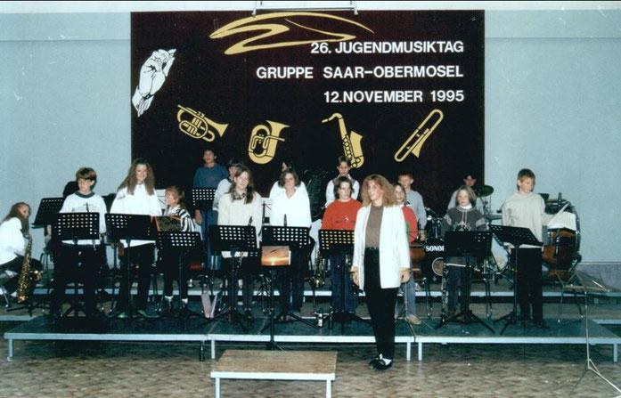 1995 - Auftritt des Jugendorchesters auf dem Jugendmusiktag