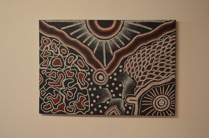 GONDWANA   (Urkontinent)   100 x 70 cm  /  Nicht mehr erhältlich.....