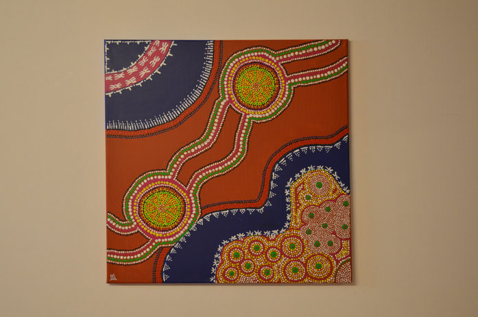 RIVERFLOW   (58 x 58 cm) € 320.-