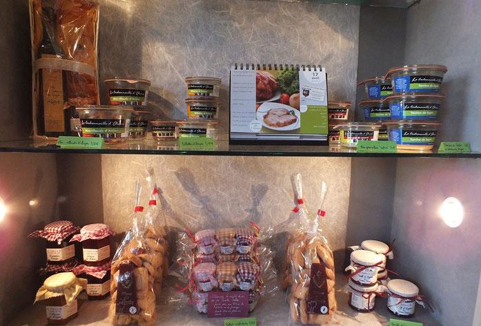 Produits gourmands à la boutique du musée