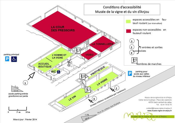 Plan descriptif accessibilité du Musée
