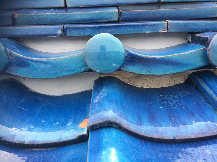 養老町大場 屋根瓦漆喰 三日月漆喰下塗り作業中 屋根瓦漆喰専門店エイトリハウス