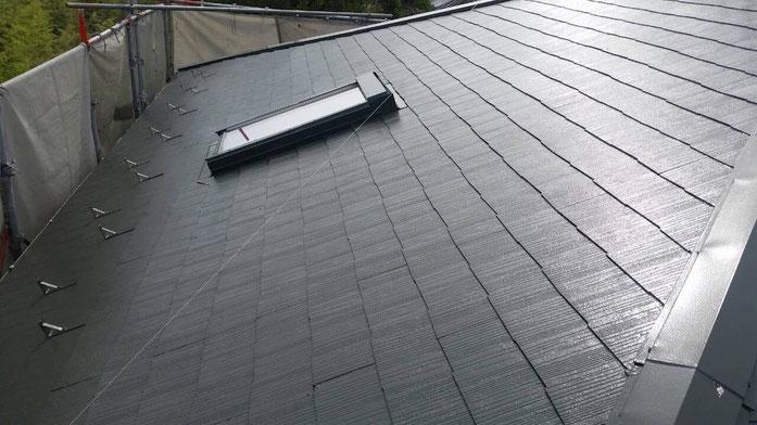 大垣市長松町 屋根塗装 工事後 養老町の屋根塗装専門店エイトリハウス