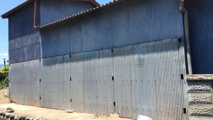 海津市平田町 外壁板金 外壁板金張り替えのための解体作業後 外壁板金専門店エイトリハウス