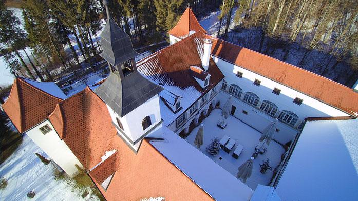 Winterlandschaft - Luftaufnahme