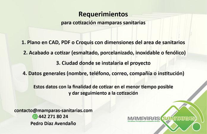 mamparas sanitarias precio, mamparas sanitarias, mamparas sanitarias en Querétaro