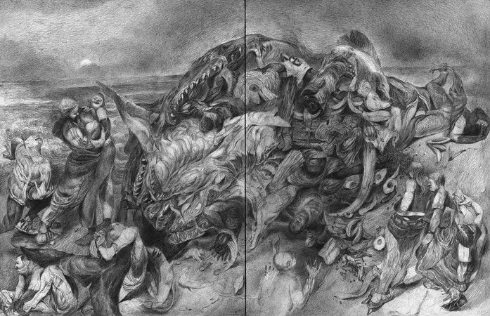 Matthias-Wyss-TAGESLICHT-DAYLIGHT-2011–2014-Pencil-On-Paper-22-x-44-Cm-1
