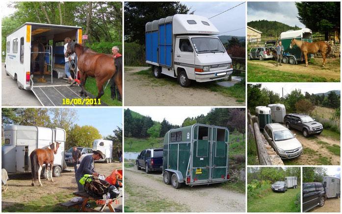 itinéraire pour arriver au gîte en camion ou 4x4 attelé avec des vans....