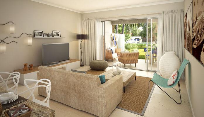 Nouveau Programme immobilier RES d'appartements vue mer proche GRAND BAIE ILE MAURICE