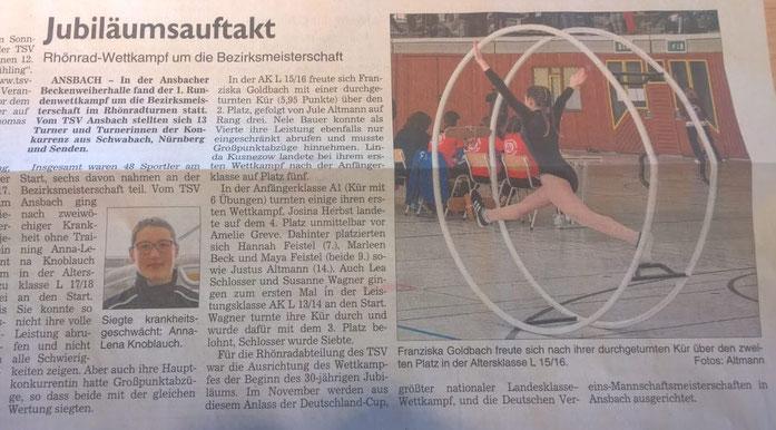 Fränkische Landeszeitung vom 21.03.2018