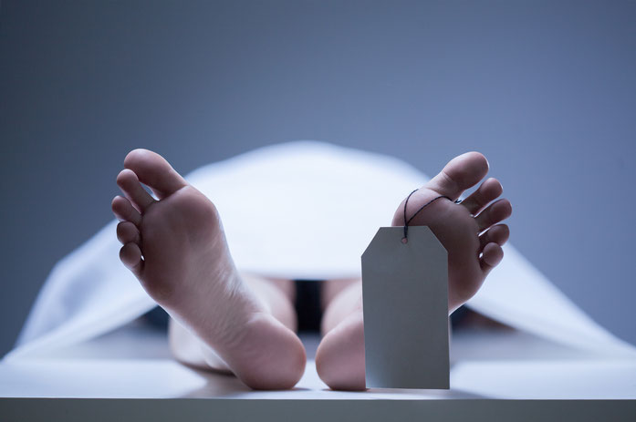 Leiche mit Identifikationszettel am Fußzeh, Tod durch Drogenmissbrauch; Kurtz Detektei Essen