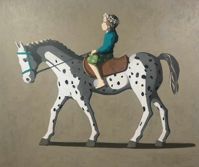 spotted horse - Acryl auf Leinwand, 160x190cm, 2021
