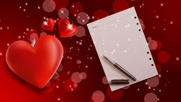 Cómo redactar una carta de amor en 5 minutos