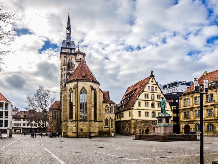 Stiftskirche in der Stuttgarter Innenstadt, Privatdetektive und Wirtschaftsdetektive der Kurtz Detektei Stuttgart