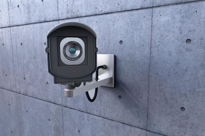 eine Videoüberwachungskamera; Videoüberwachung in Stuttgart durch die Kurtz Detektei Stuttgart