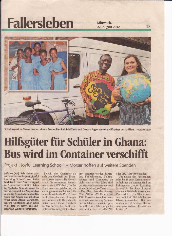 Wolfsburger Allgemeine Zeitung, 22.08.2012, Foto: Photowerk