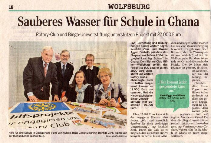 Wolfsburger Allgemeine, April 2013, Foto: Manfred Hensel
