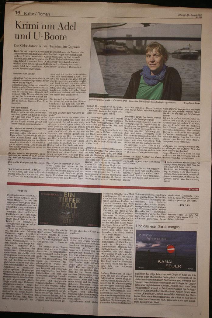 Kanalfeuer Presseartikel
