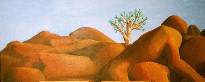 Wüstenlandschaft gestaltet von  Wind und Wetter, in Form von menschlichen Körpenn, verschlungen in Ruhe und stetig bereit für Veränderung, zu wachsen.