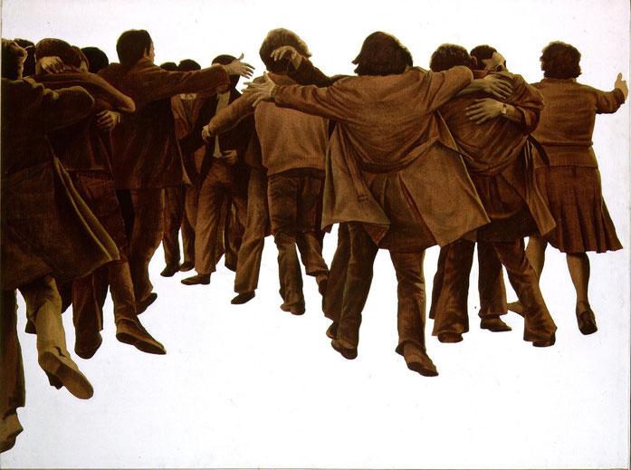 El abrazo de Juán Genovés.