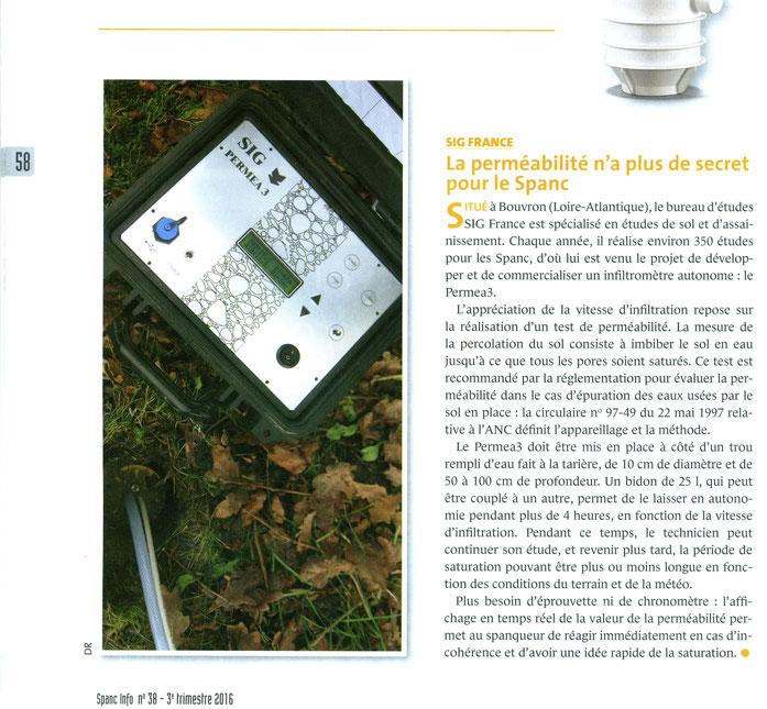 Appareil de mesure de la perméabilité des sols