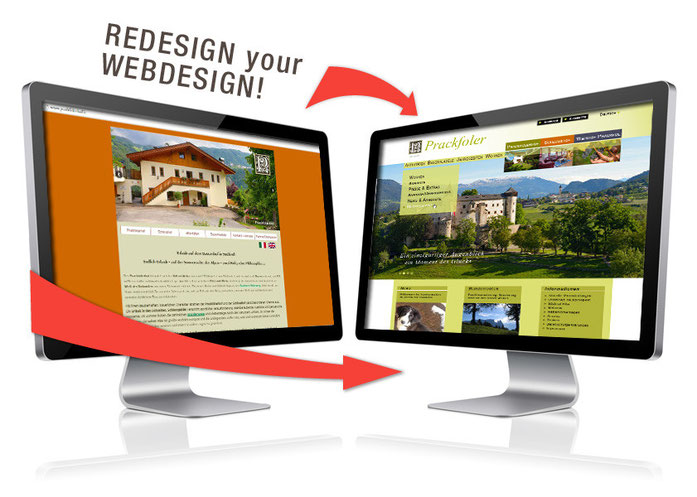 Redesign into modern & responsive webdesign