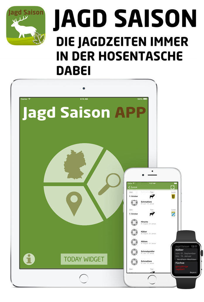 Jagd Saison App Screenshot