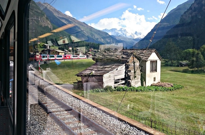 Kreuzung mit dem Glacier-Express
