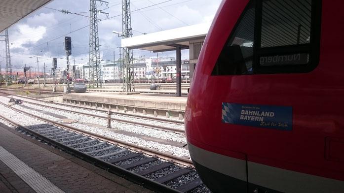 """Der VT 612 im """"Bahnland Bayern"""" hat Zeit für mich (Nürnberg Hbf)"""