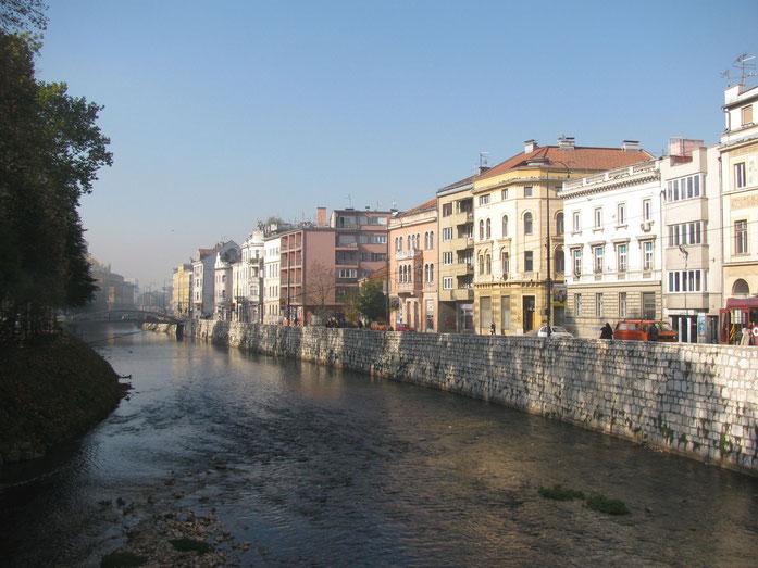 sonniger Morgen in Sarajevo