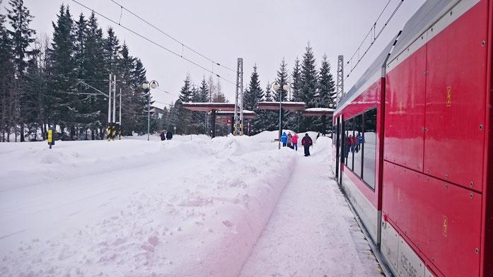 Ankunft in Strbske Pleso