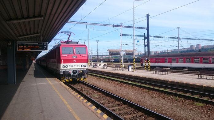 Zug nach Cierna nad Tisou im Bahnhof Kosice