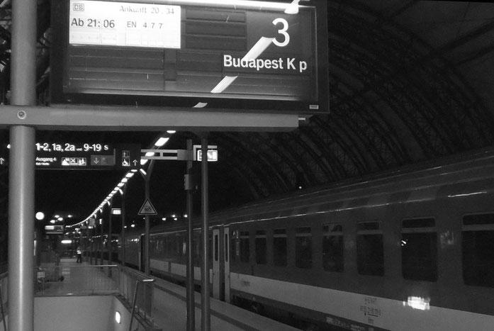 im EN von Dresden nach Wien beginnt die Reise