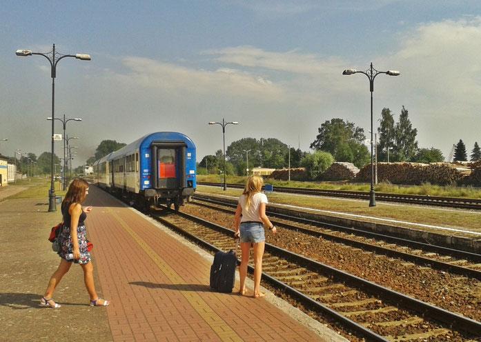 ausfahrender Zug