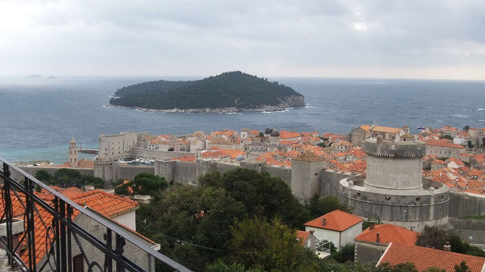 Blick auf Dubrovnik am Morgen